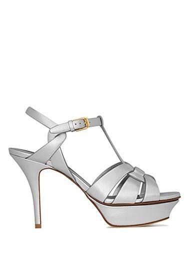 Saint Laurent Sandalet Gümüş